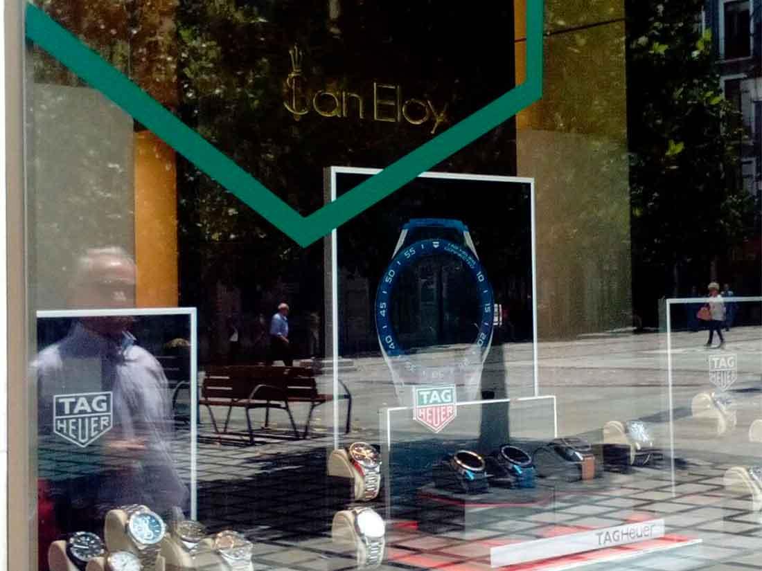 Diseño de escaparate en Joyería San Eloy